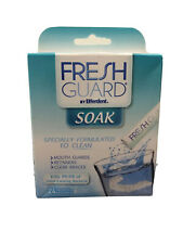 Fresh Guard Efferdent Clean Retainers Clear Braces Mouth Guard Invisalign 24 Ct