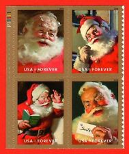 =WOW= 2018 SPARKLING HOLIDAYS COCA-COLA SANTA **UL PLATE BLOCK** of 4 *In Stock*