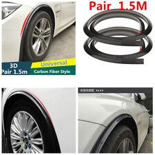Universal Car Fender Flare Wheel Eyebrow Protector Wheel Arch trim strip 1.5m 2x