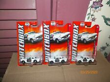 3 2013 MATCHBOX 56 BUICK CENTURY POLICE CAR (WHITE)  MBX HEROIC RESCUE