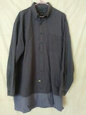 Harbor Bay Sport Long Sleeve Shirt Size 2X Blue Plaid EUC