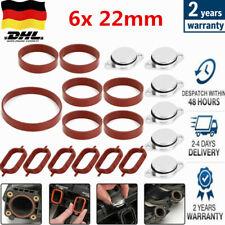 Drallklappen mit Dichtung Ansaugbrücke 6x 22 mm für BMW 5-ER E60 E61 525-d 530-d