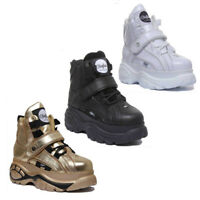 Buffalo Womens Leather High Platform Trainers In Various Colours UK Sizes 3 - 8