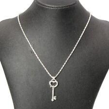Halskette mit Strass Schlüssel Anhänger