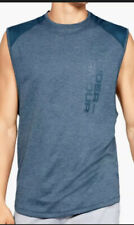 Under Armour Loose Mens Mk1 Terry Tank 1327403 Blue Size Large Nwt Retails$50.00