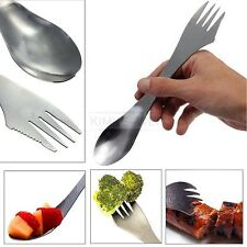 3 in 1 Stainless Steel Spork Spoon Fork Combo Camping Outdoor Hiking