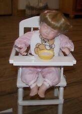 "1993 Danbury Mint ""Brittany"" Doll with Highchair and Bowl - New Condition"