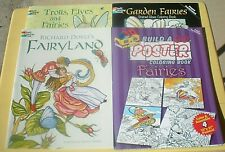 FAIRYLAND, POSTER FAIRIES, TROLLS ELVES & FAIRIES, GARDEN FAIRIES 4 Coloring*