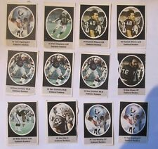 1972 Sunoco / Nfl Football Stamps - Oakland Raiders - Lot Of 12 Jim Otto