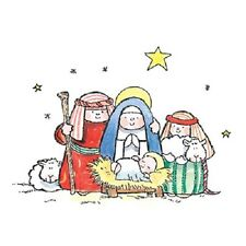 PENNY BLACK RUBBER STAMPS THE MANGER NEW wood STAMP