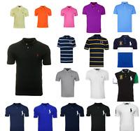 Men's Ralph Lauren Polo Shirt Short Sleeve Top Black Pink Blue Orange New Sale!