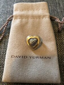 David Yurman 18K Yellow Gold & Sterling Silver Heart Brooch Pin