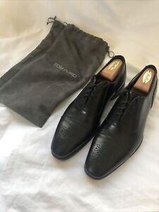 Tom Ford Mens Formal Dress Shoe Size 10 Black Oxford Leather