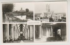 Gloucestershire postcard - Gloucester (Multiview showing 4 views) - RP