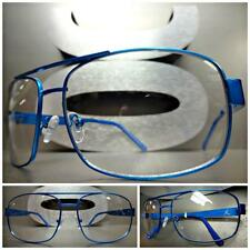 New Men's CLASSIC VINTAGE RETRO Style Clear Lens EYE GLASSES Blue Fashion Frame