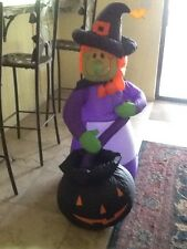 """Gemmy Airblown Inflatable """"Witches Brew"""" 4 Feet Tall Halloween"""