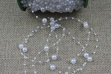 1 Metre of Pearl String Trim - Wedding, Craft, Hair, Cake [BUY 3 GET 3 FREE]