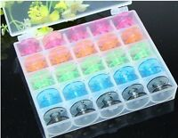 25pcs of Set 5 Colors Plastic Bobbin/ Home Sewing Machine Accessories U1