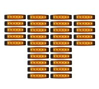 30x 24V Orange 6 LED Leuchte E9 Begrenzungsleuchte LKW Positionsleuchte