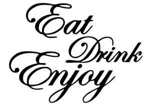 eat drink enjoy vinyl graphic wall art sticker cafe bar restaurant coffee shop