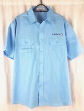 United Airlines Men's Large Blue Short Sleeve AM Uniform Shirt Cintas