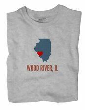 Wood River Illinois IL T-Shirt HEART