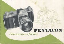 Pentacon Instruction Manual Original