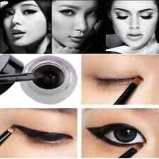 Hot Sale Black Cosmetic Waterproof Eye Liner Eyeliner Shadow Gel Makeup+Brush