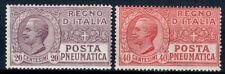 REGNO D' ITALIA 1925 POSTA PNEUMATICA 2 VALORI G.I **