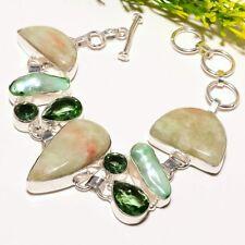 Chrysoprase Biwa Pearl Gemstone Handmade Fashion Jewelry Bracelet SB1741
