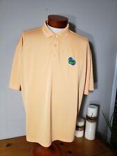 Monterey Club Mens Pale Orange Golf Polo Shirt Size XL 3 Button ENGLISH TURN