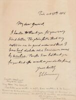 Georges CLEMENCEAU - Rare lettre autographe signée en anglais