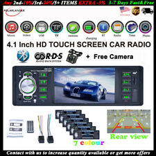 4''1 Din Car Radio+Camera AUX Stereo Mirror Link Bluetooth MP5 Player AM/FM/RDS