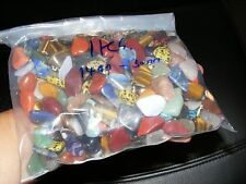 1KG Mixed Tumblestones Crystal 14mm-30mm A Grade Over 160 Gemstones Wholesale