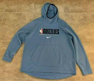 Memphis Grizzlies Blue Gray Nike Dri-Fit Pullover Sweatshirt w/ Hood 2XL