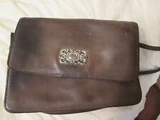 Fossil Small Vintage Handbag Brown Leather with Wallet Compartment at the Back