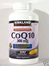 Kirkland Signature CoQ10 300mg CoEnzyme Q10 100 Softgels