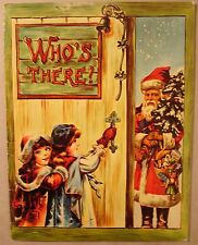 Who's There? Christmas Santa Merrimack REPRODUCED FROM ANTIQUE ORIGINAL SC