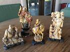 Lot of Chinese carved soapstone figures of Magu, Ji Gong etc., Republic period