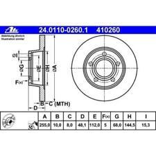 Bremsscheiben Angebotspaket ATE Bremssystem fürs Auto