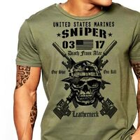 Military Sniper T-Shirt MOS 0317 Combat Arms Men Cotton Tee New