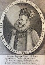 Raoul Rudolph II (1552−1612) Empereur des Rom estampe circa 1595 très rare
