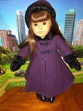 American Girl Doll Samantha's Sugar Plum Coat Hat Mittens - OUTFIT ONLY - EUC!!