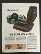 Hoover Vacuum~Will Do For Women Than Any Other Cleaner~1940 Vintage Print Ad A74