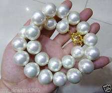"""Genuine Huge 14mm White South Sea Shell Pearl Necklace 18"""" AAA+"""
