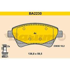 ORIGINAL BARUM BA2230 Bremsbelag Satz vorne Renault Megane