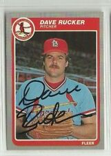 Dave Rucker 1985 Fleer signed auto autographed card Cardinals