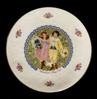 Vintage 1976 Royal Doulton Valentine's Day Plate With Victorian Children England