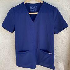 Figs Women's Navy Blue Casma Pocket Scrub Top V Neck Size Xs