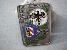 ADAC POLIZEI MOTORSPORTCLUB NÜRNBERG 1962 Autoplakette Emailleplakette Car Badge